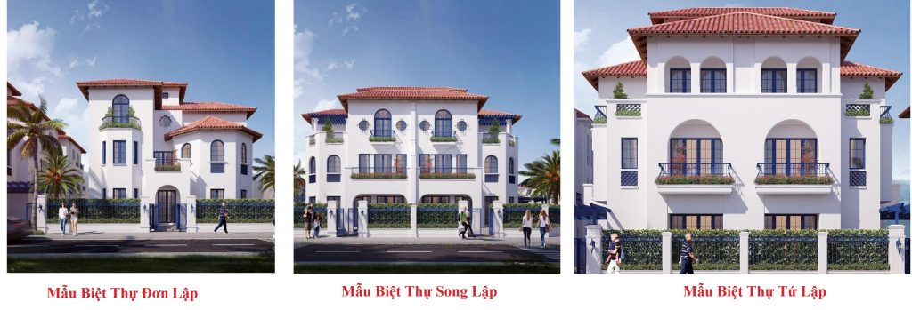 Các dòng biệt thự dự án Sun Group Quang Hanh