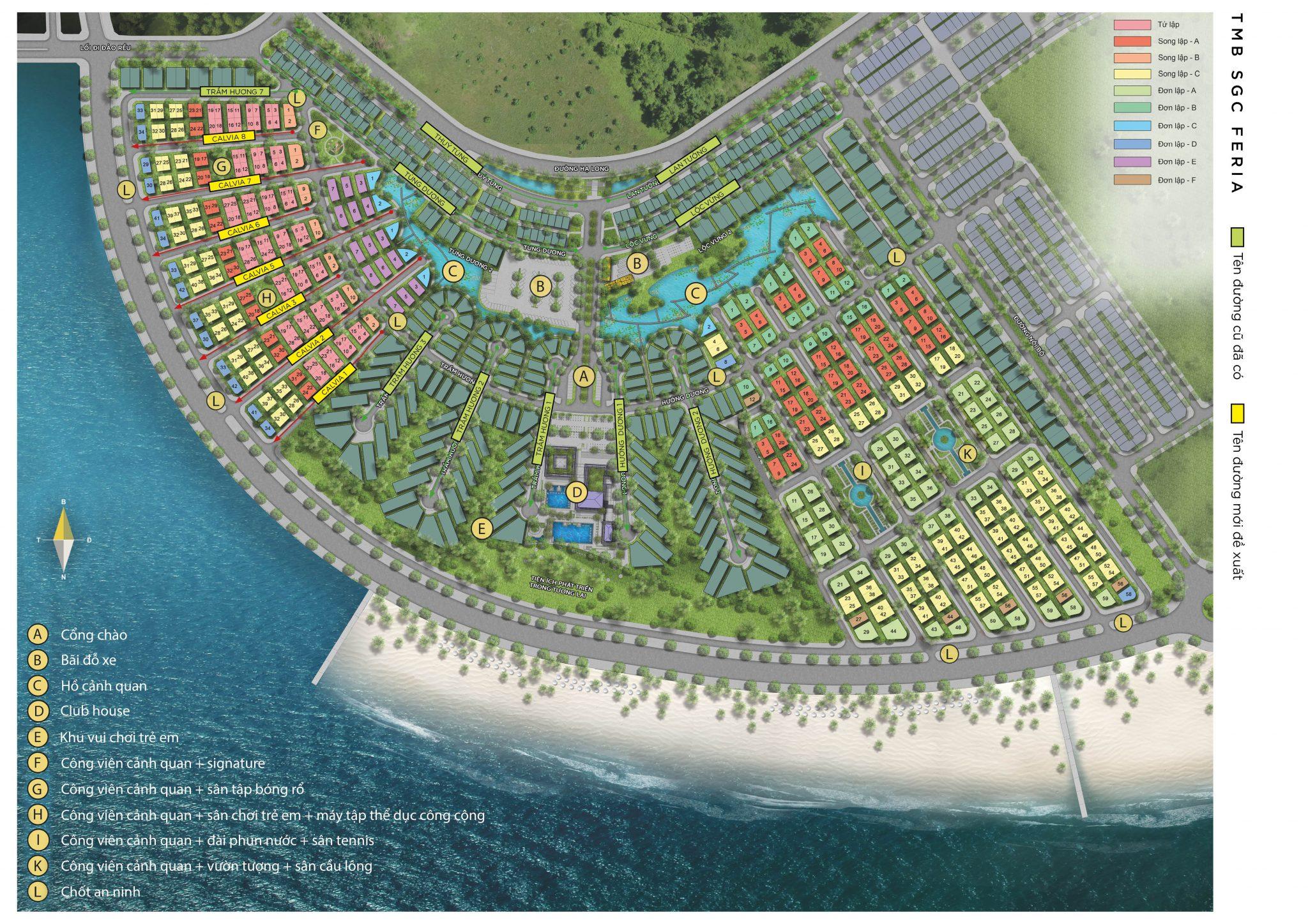 Mặt bằng tổng quan dự án Sun Grand City Feria