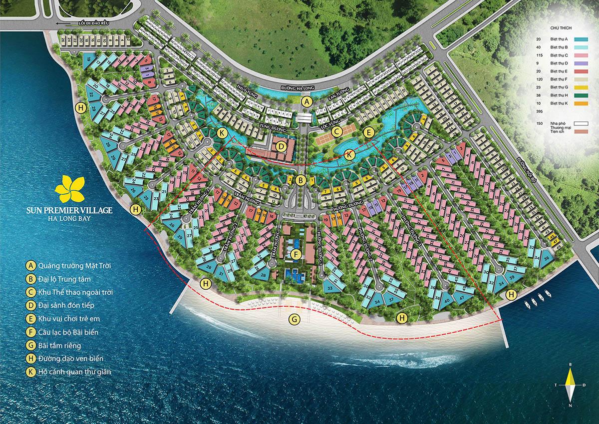Mặt bằng tổng quan dự án Sun Premier Village