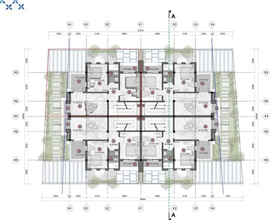 Mặt bằng tầng 2 Shophouse dự án Sun Group Quang Hanh