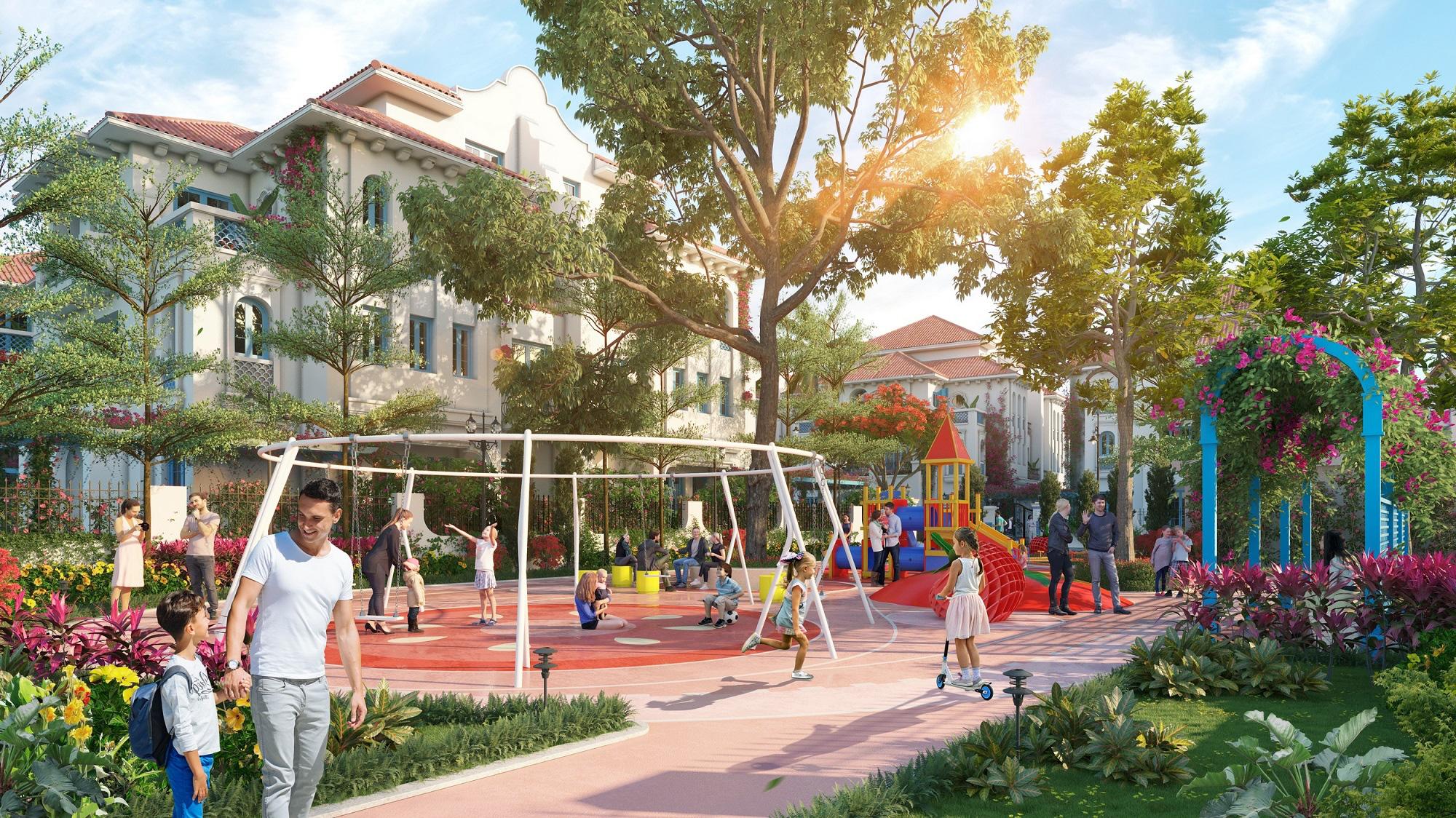 Tiện ích Biệt thự tứ lập dự án Sun Group Quang Hanh