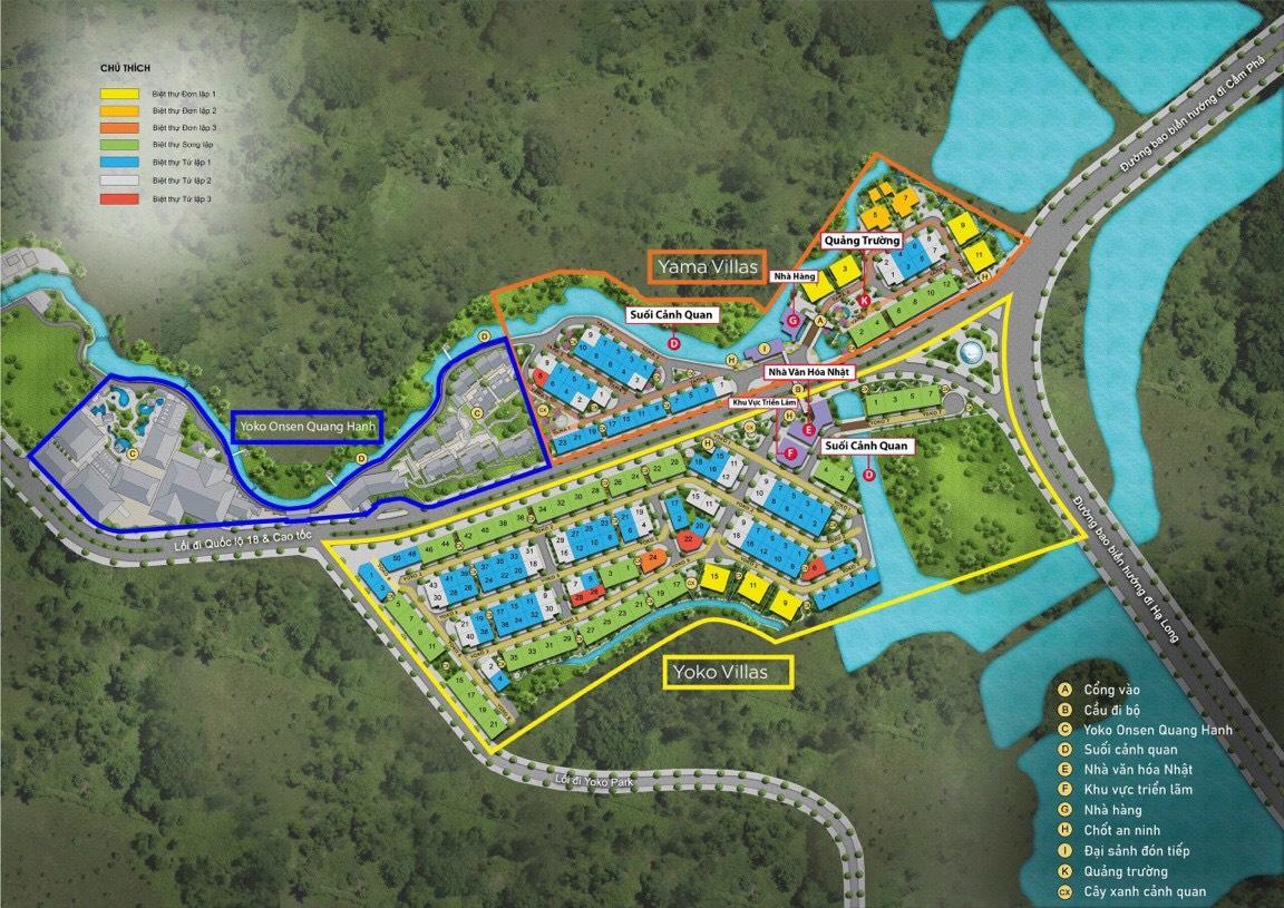Mặt bằng phân lô tứ lập dự án Sun Quang Hanhgiai đoạn 1