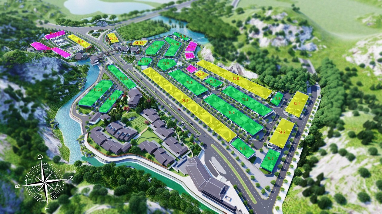 Thông tin mặt bằng phân lô song lập dự án Sun Quang Hanhgiai đoạn 1